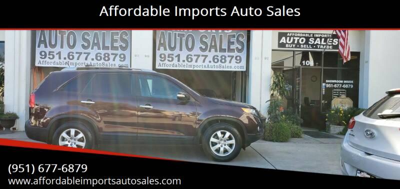 2012 Kia Sorento for sale at Affordable Imports Auto Sales in Murrieta CA