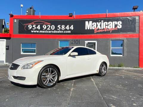 2009 Infiniti G37 Coupe for sale at Maxicars Auto Sales in West Park FL