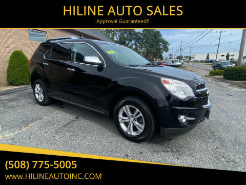2013 Chevrolet Equinox for sale at HILINE AUTO SALES in Hyannis MA