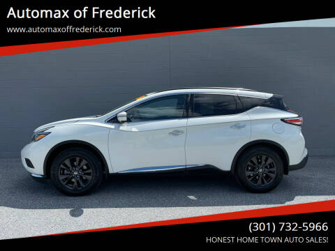 2018 Nissan Murano for sale at Automax of Frederick in Frederick MD