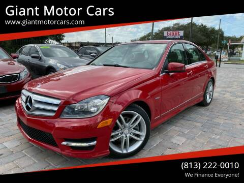2012 Mercedes-Benz C-Class for sale at Giant Motor Cars in Tampa FL