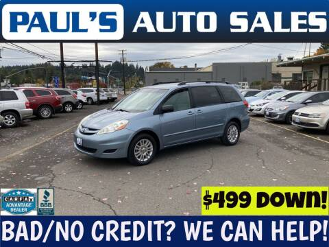 2010 Toyota Sienna for sale at Paul's Auto Sales in Eugene OR