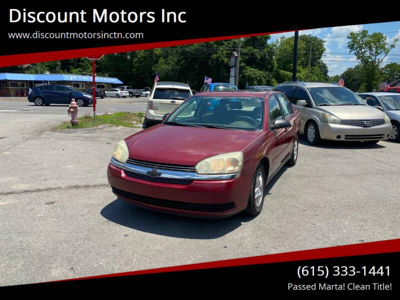 2004 Chevrolet Malibu for sale at Discount Motors Inc in Nashville TN