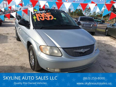 2001 Chrysler Town and Country for sale at SKYLINE AUTO SALES LLC in Winter Haven FL