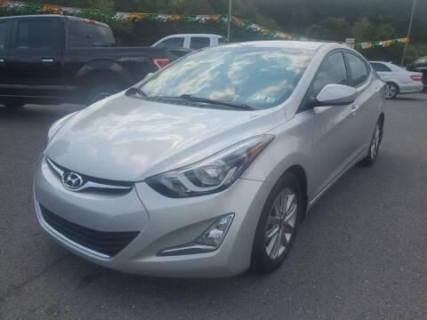 2014 Hyundai Elantra for sale at Mulligan's Auto Exchange LLC in Paxinos PA