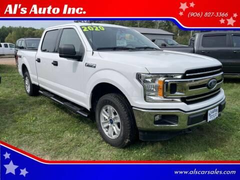 2020 Ford F-150 for sale at Al's Auto Inc. in Bruce Crossing MI