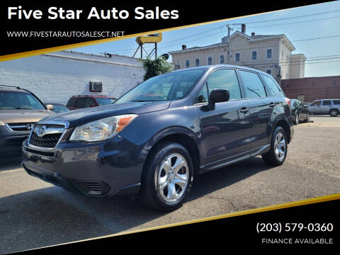 2014 Subaru Forester for sale at Five Star Auto Sales in Bridgeport CT