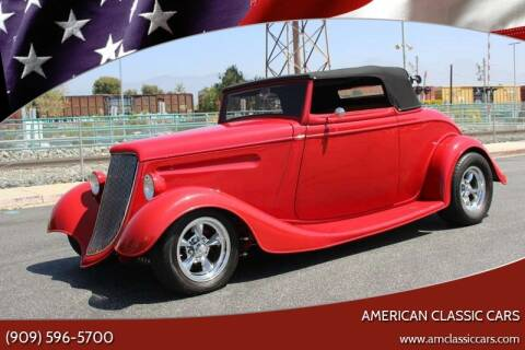 1933 Ford Cabriolet  for sale at American Classic Cars in La Verne CA