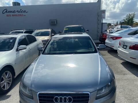 2011 Audi A4 for sale at America Auto Wholesale Inc in Miami FL