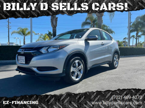 2018 Honda HR-V for sale at BILLY D SELLS CARS! in Temecula CA