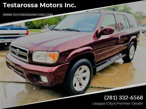 2002 Nissan Pathfinder for sale at Testarossa Motors Inc. in League City TX