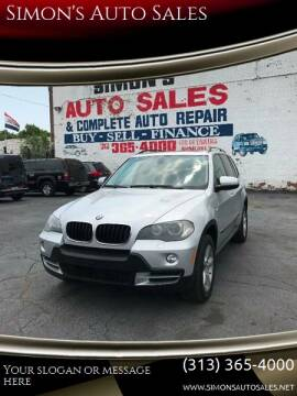 2007 BMW X5 for sale at Simon's Auto Sales in Detroit MI