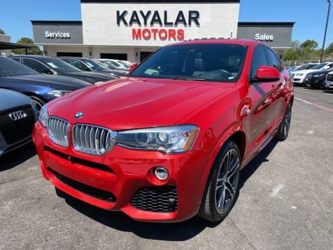 2016 BMW X4 for sale at KAYALAR MOTORS in Houston TX