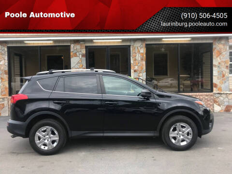 2013 Toyota RAV4 for sale at Poole Automotive in Laurinburg NC