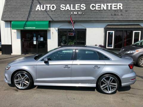 2018 Audi A3 for sale at Auto Sales Center Inc in Holyoke MA
