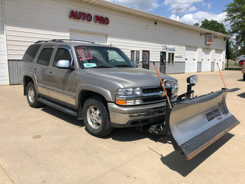 2002 Chevrolet Tahoe for sale at AUTO PRO in Brookings SD