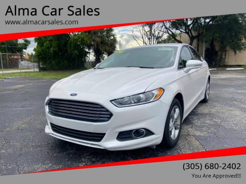 2016 Ford Fusion for sale at Alma Car Sales in Miami FL