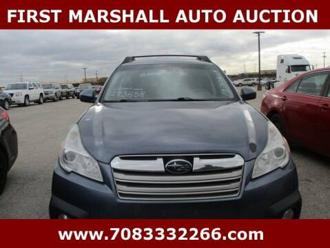 2014 Subaru Outback for sale at First Marshall Auto Auction in Harvey IL