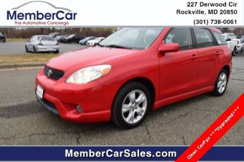 2007 Toyota Matrix for sale at MemberCar in Rockville MD