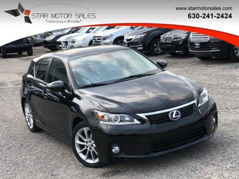 2012 Lexus CT 200h for sale at Star Motor Sales in Downers Grove IL