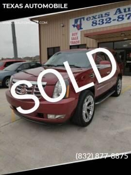 2008 Cadillac Escalade for sale at TEXAS AUTOMOBILE in Houston TX
