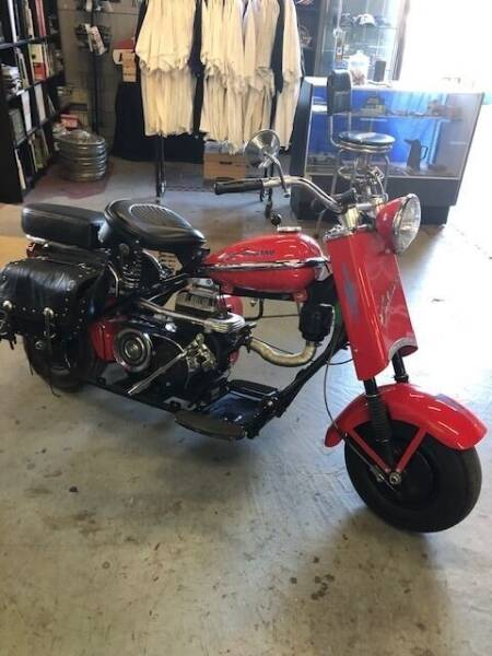 1956 Cushman Eagle Scooter for sale at Route 40 Classics in Citrus Heights CA