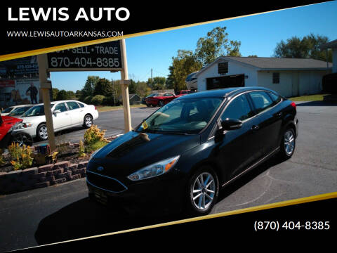2015 Ford Focus for sale at LEWIS AUTO in Mountain Home AR