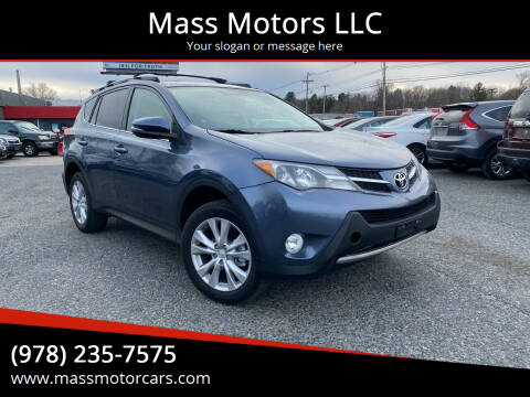 2013 Toyota RAV4 for sale at Mass Motors LLC in Worcester MA