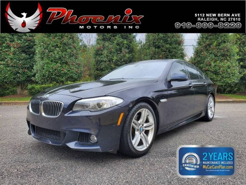 2013 BMW 5 Series for sale at Phoenix Motors Inc in Raleigh NC