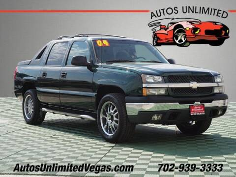 2004 Chevrolet Avalanche for sale at Autos Unlimited in Las Vegas NV