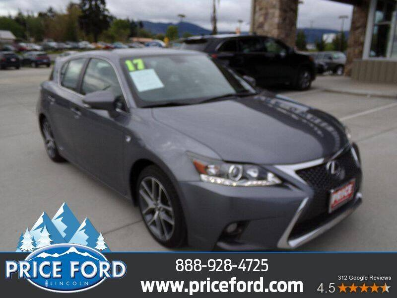 2017 Lexus CT 200h for sale at Price Ford Lincoln in Port Angeles WA