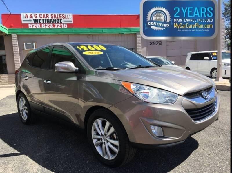 2010 Hyundai Tucson for sale at A&G Car Sales  LLC in Tucson AZ