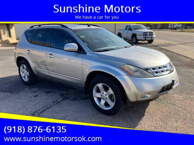 2005 Nissan Murano for sale at Sunshine Motors in Bartlesville OK