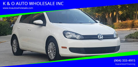 2013 Volkswagen Golf for sale at K & O AUTO WHOLESALE INC in Jacksonville FL