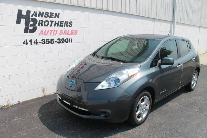 2013 Nissan LEAF for sale at HANSEN BROTHERS AUTO SALES in Milwaukee WI