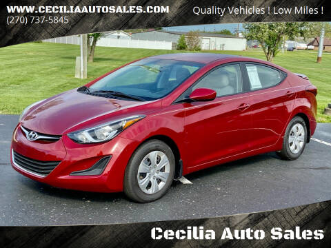 2016 Hyundai Elantra for sale at Cecilia Auto Sales in Elizabethtown KY