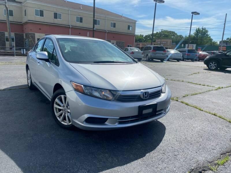 2012 Honda Civic for sale at M & J Auto Sales in Attleboro MA