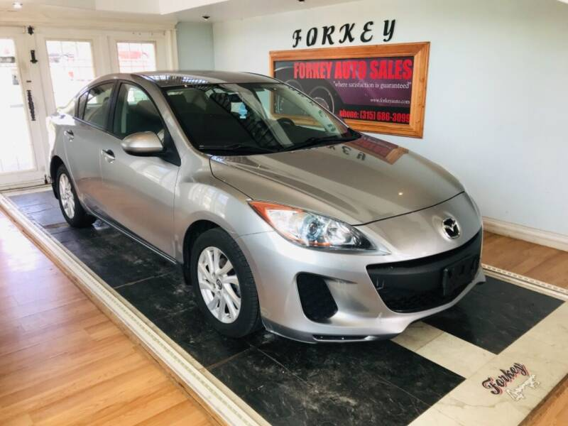 2013 Mazda MAZDA3 for sale at Forkey Auto & Trailer Sales in La Fargeville NY