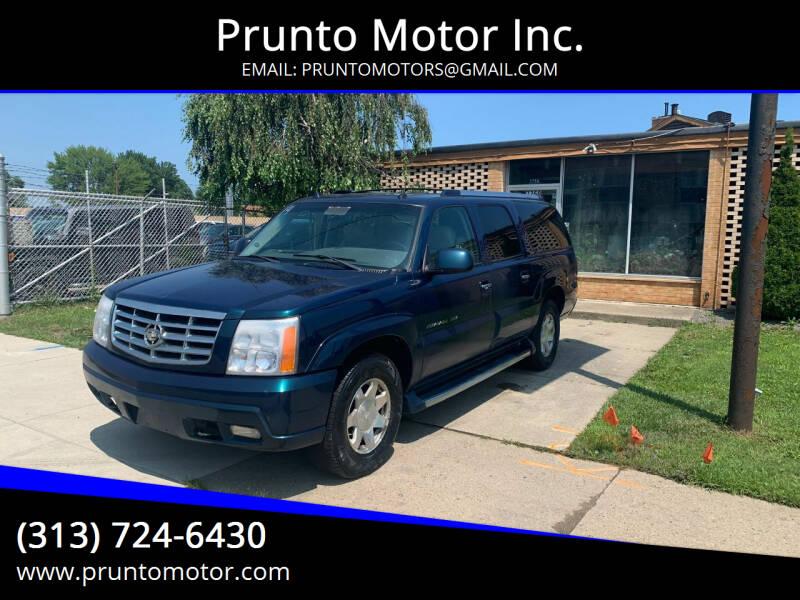 2005 Cadillac Escalade ESV for sale at Prunto Motor Inc. in Dearborn MI