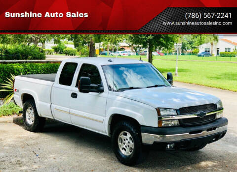 2004 Chevrolet Silverado 1500 for sale at Sunshine Auto Sales in Oakland Park FL