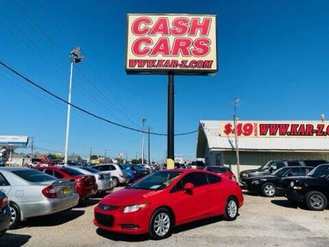 2012 Honda Civic for sale at www.CashKarz.com in Dallas TX