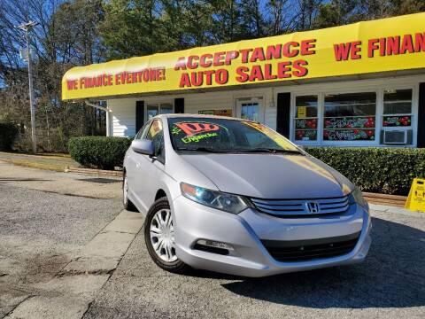 2011 Honda Insight for sale at Acceptance Auto Sales in Marietta GA