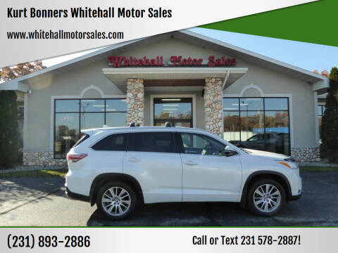 2016 Toyota Highlander for sale at Kurt Bonners Whitehall Motor Sales in Whitehall MI