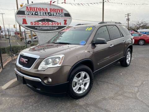 2010 GMC Acadia for sale at Arizona Drive LLC in Tucson AZ
