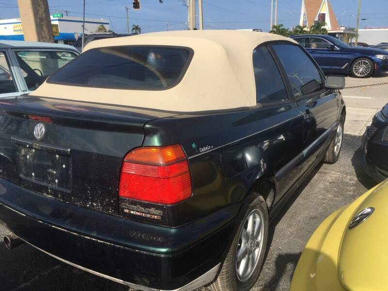 1995 Volkswagen Cabriolet for sale at TOP TWO USA INC in Oakland Park FL