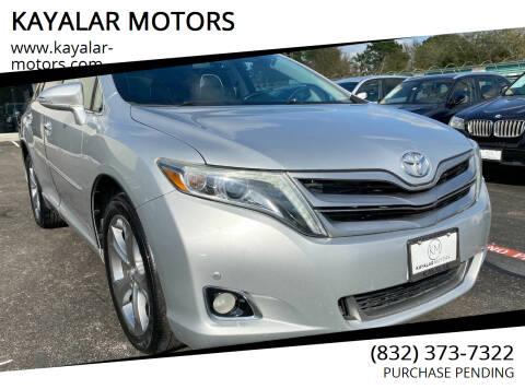 2014 Toyota Venza for sale at KAYALAR MOTORS in Houston TX