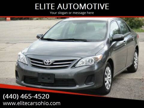 2013 Toyota Corolla for sale at ELITE CARS OHIO LLC in Solon OH