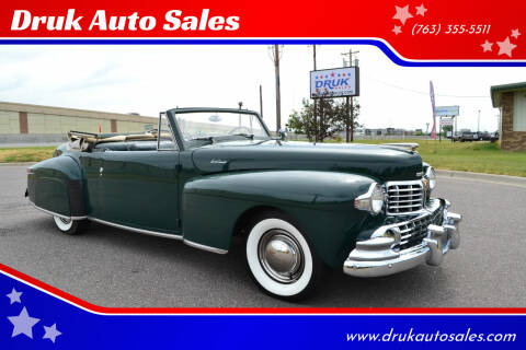 1948 Lincoln Continental for sale at Druk Auto Sales in Ramsey MN