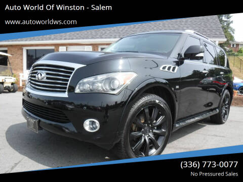 2014 Infiniti QX80 for sale at Auto World Of Winston - Salem in Winston Salem NC