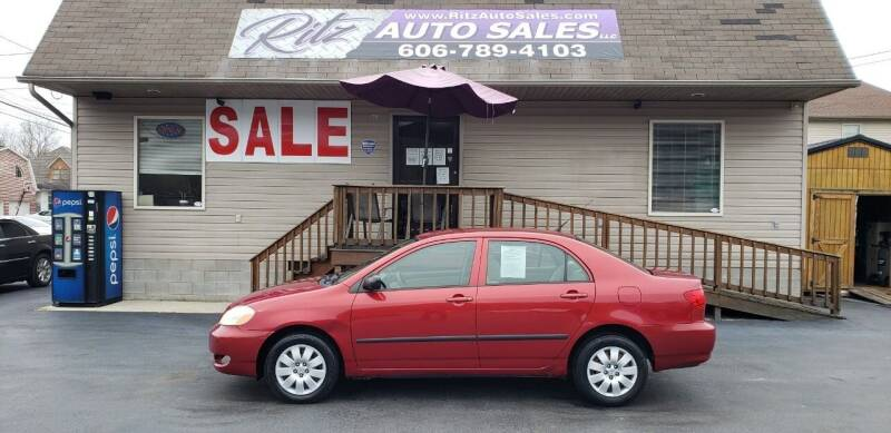 2007 Toyota Corolla for sale at Ritz Auto Sales, LLC in Paintsville KY